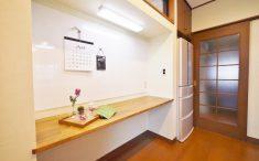 ホワイトボード 造作机 キッチン