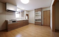 家電収納付カップボード キッチン リフォーム